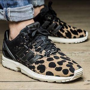 adidas damen zx flux leopard